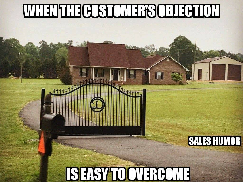 objection sales meme