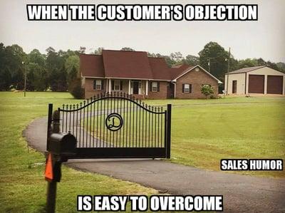 objection sales meme