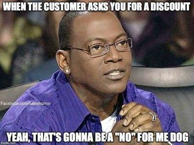 discount sales meme