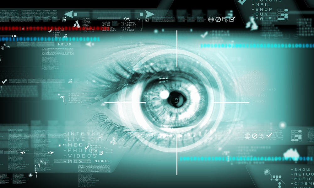 Digital image of woman's eye. Security concept-1