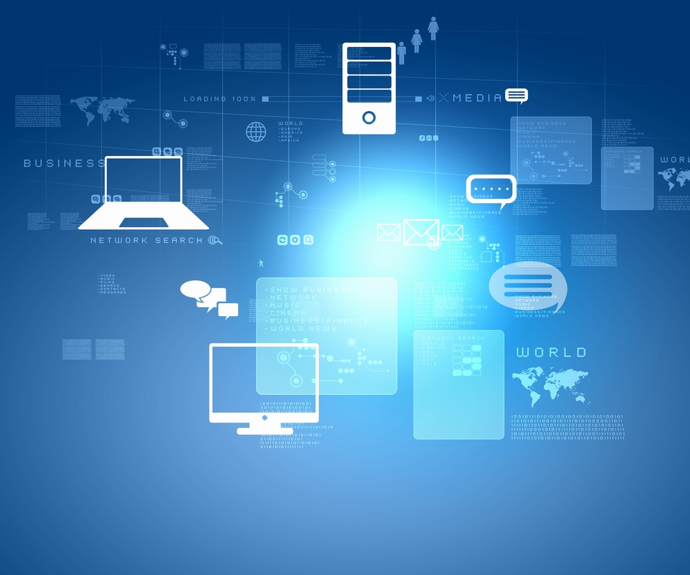 Internet technology concept of global business from concepts series